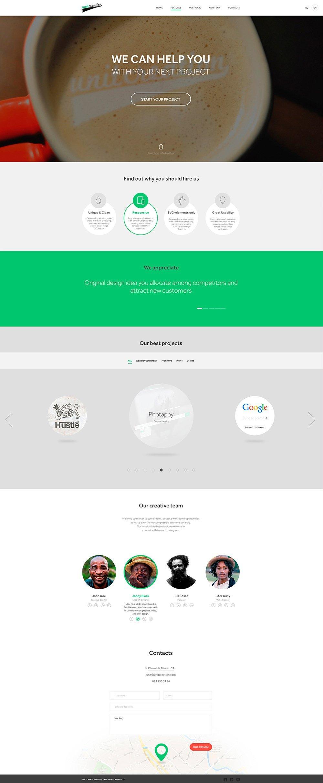 Unitcreation - Free Template PSD