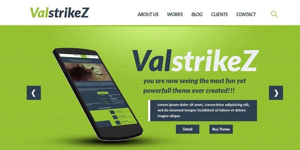 ValstrikeZ One Page Portfolio PSD