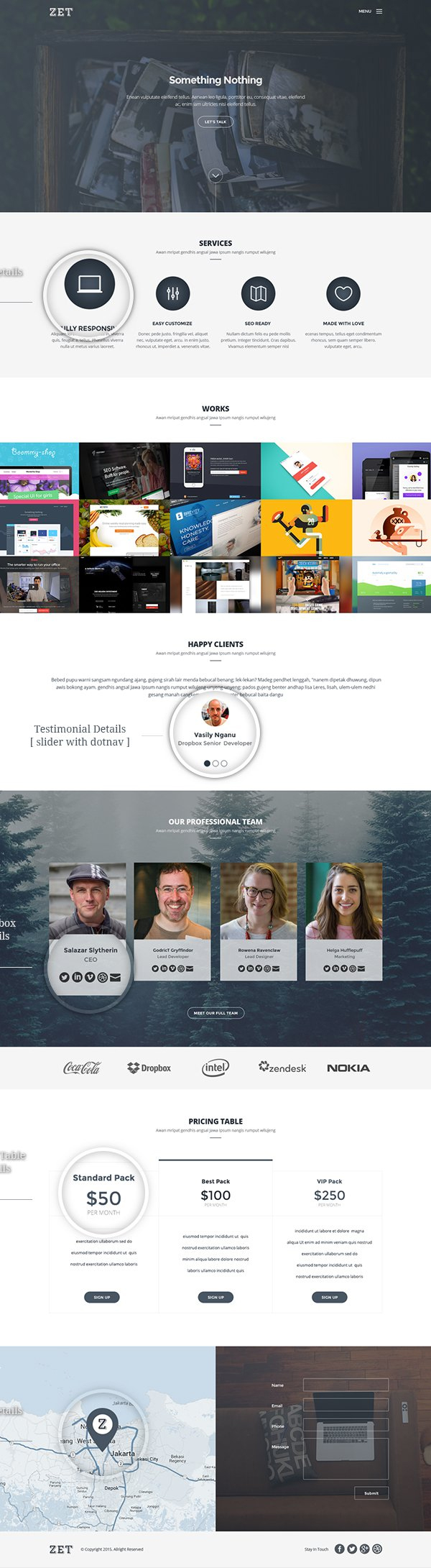 Zet – Free One Page Template PSD