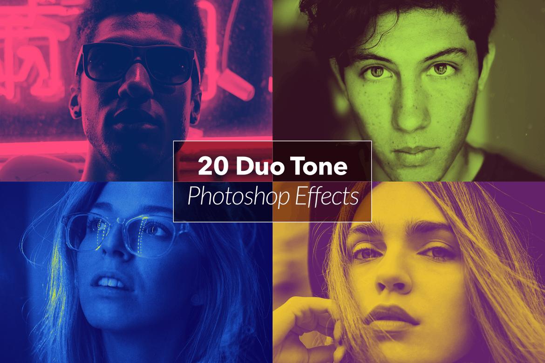 20  Duotone Photoshop Actions