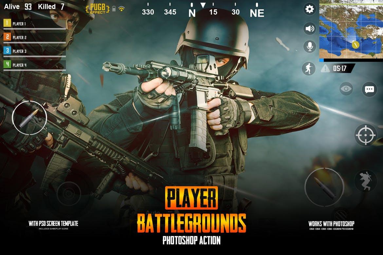 Player Battlegrounds Photoshop Action PUGB