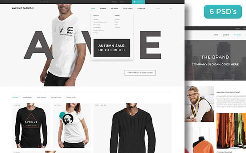 Avenue Fashion – Free eCommerce PSD Template