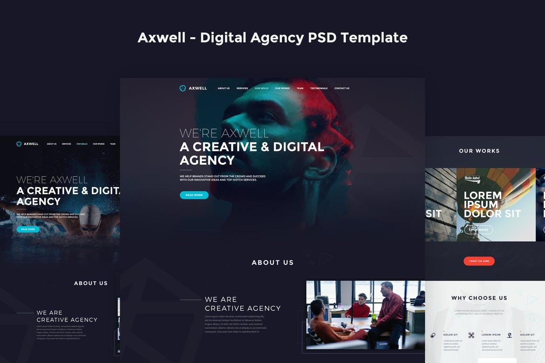 Axwell - Digital Agency PSD Template