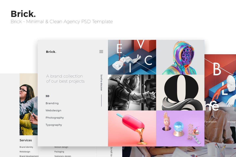 Brick - Minimal & Clean Agency PSD Template