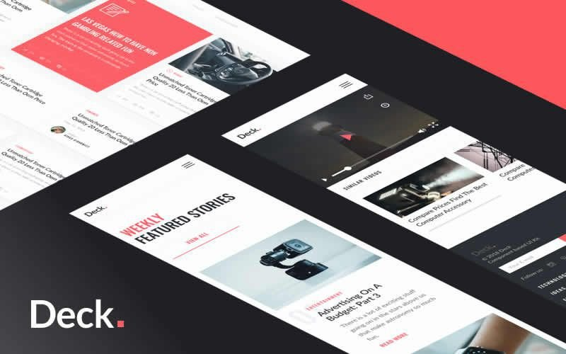 Deck – Free Card Style PSD Template