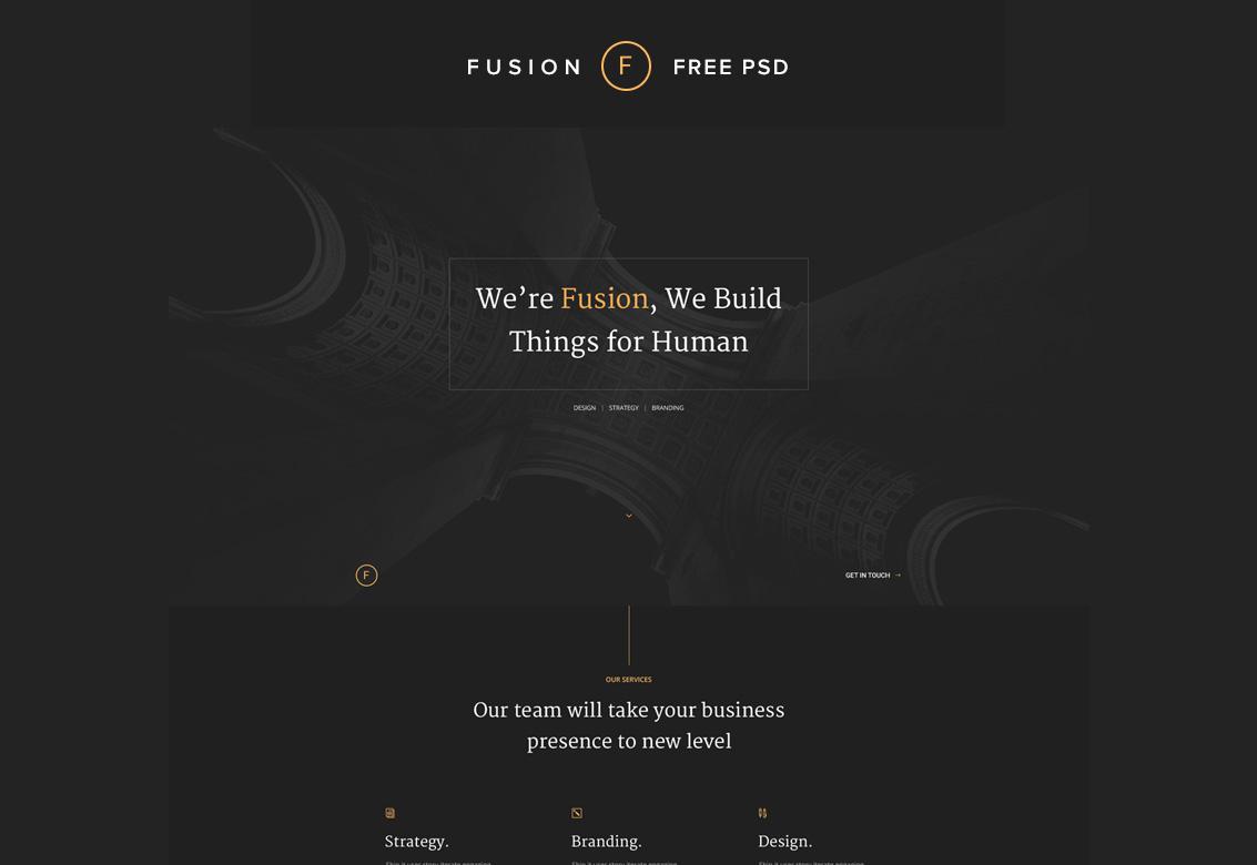 Fusion Web Portfolio Free Photoshop PSD Website Templates