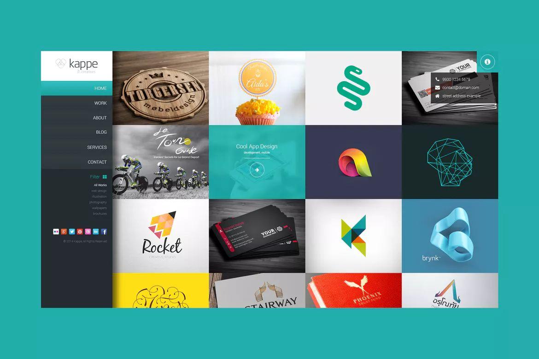 Kappe - Full Screen Portfolio & Blog Free Photoshop PSD Website Templates