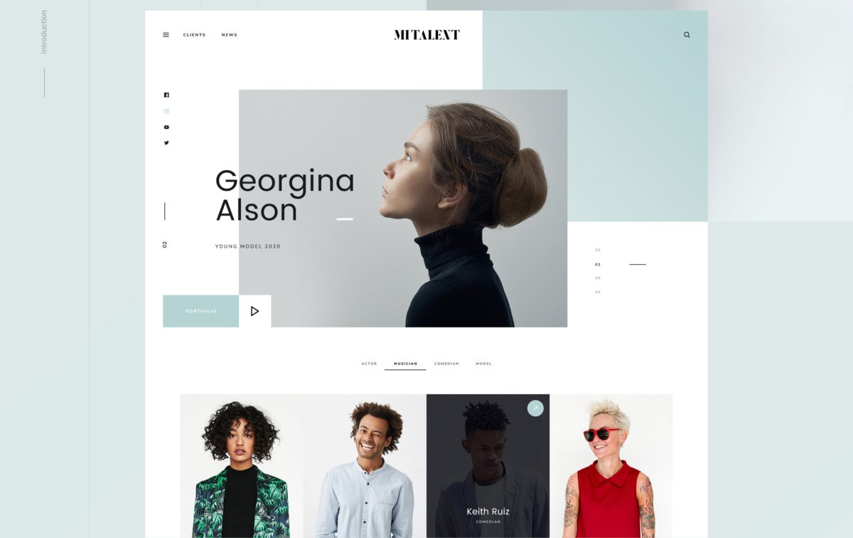MI Talent – Web Design Agency Free Photoshop PSD Website Template