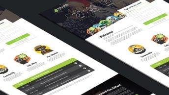 Meetup - Event Landing Page PSD