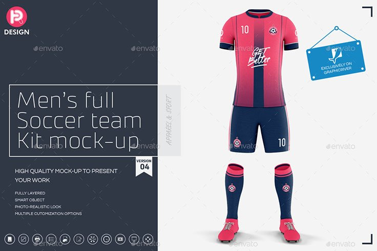 Mens Full Soccer Team Kit mockup V4