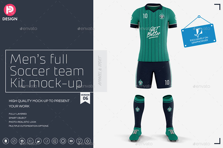 Mens Full Soccer Team Kit mockup V6