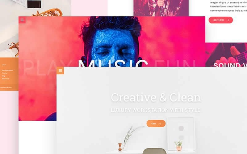 Multiple Landing Page PSD Templates