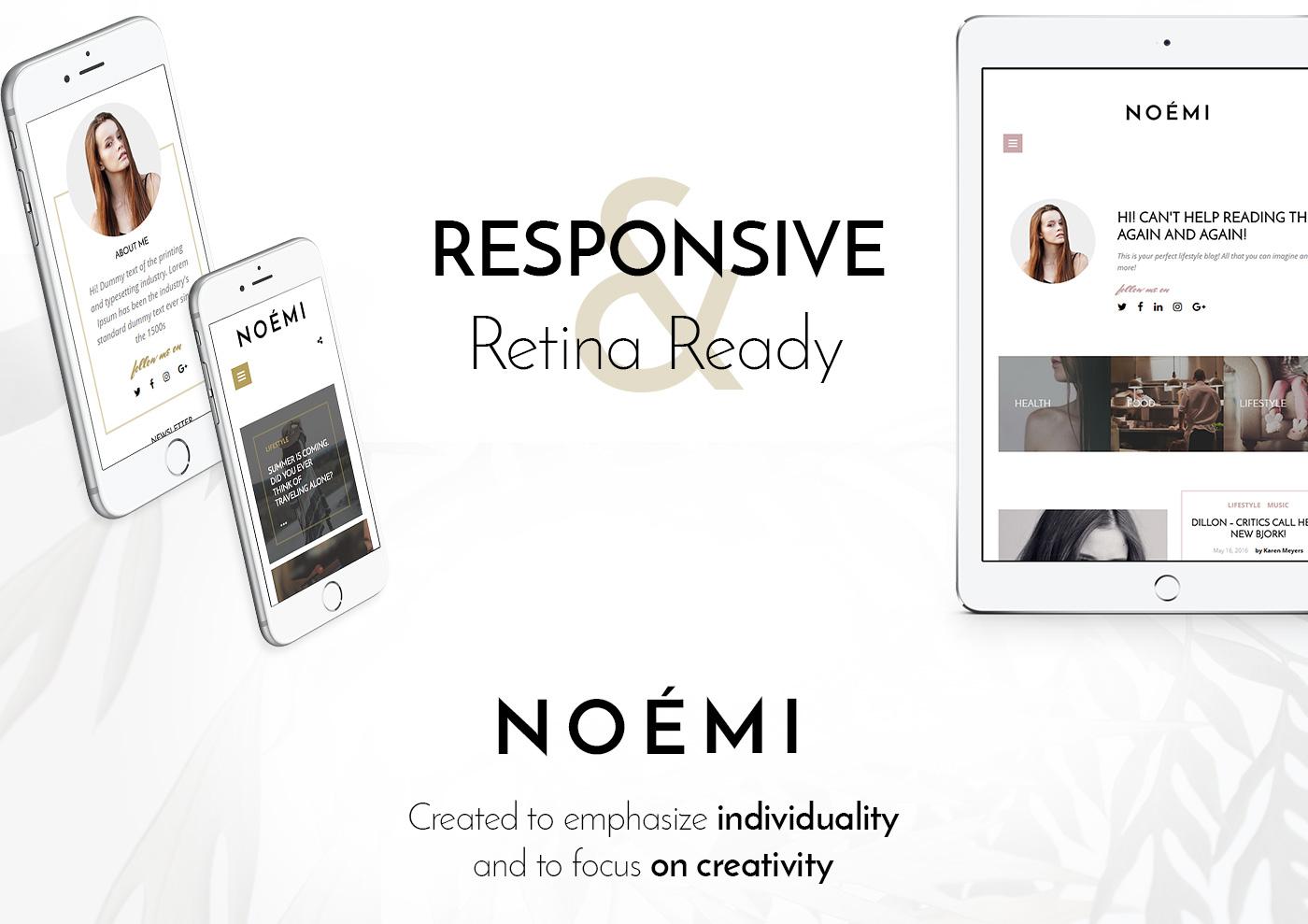Noemi Free Photoshop PSD Website Templates
