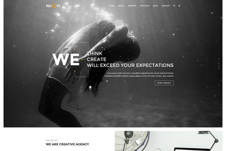 Nuovi - Creative PSD Template