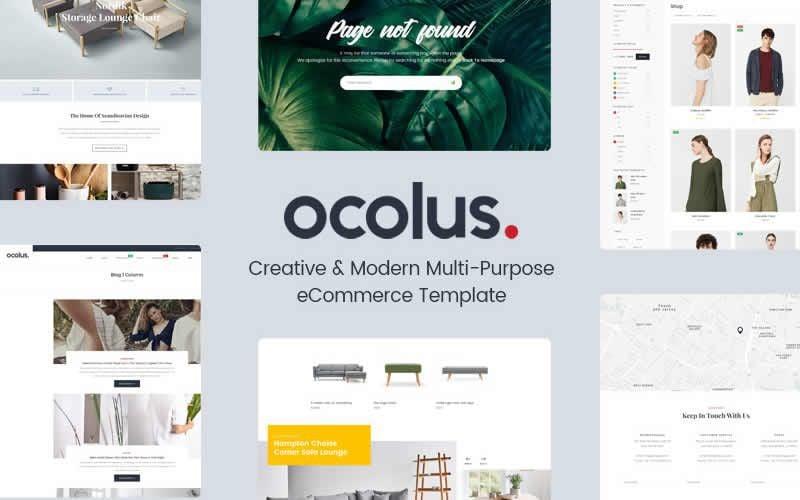 Ocolus – Multi-Purpose eCommerce Free Photoshop PSD Website Templates