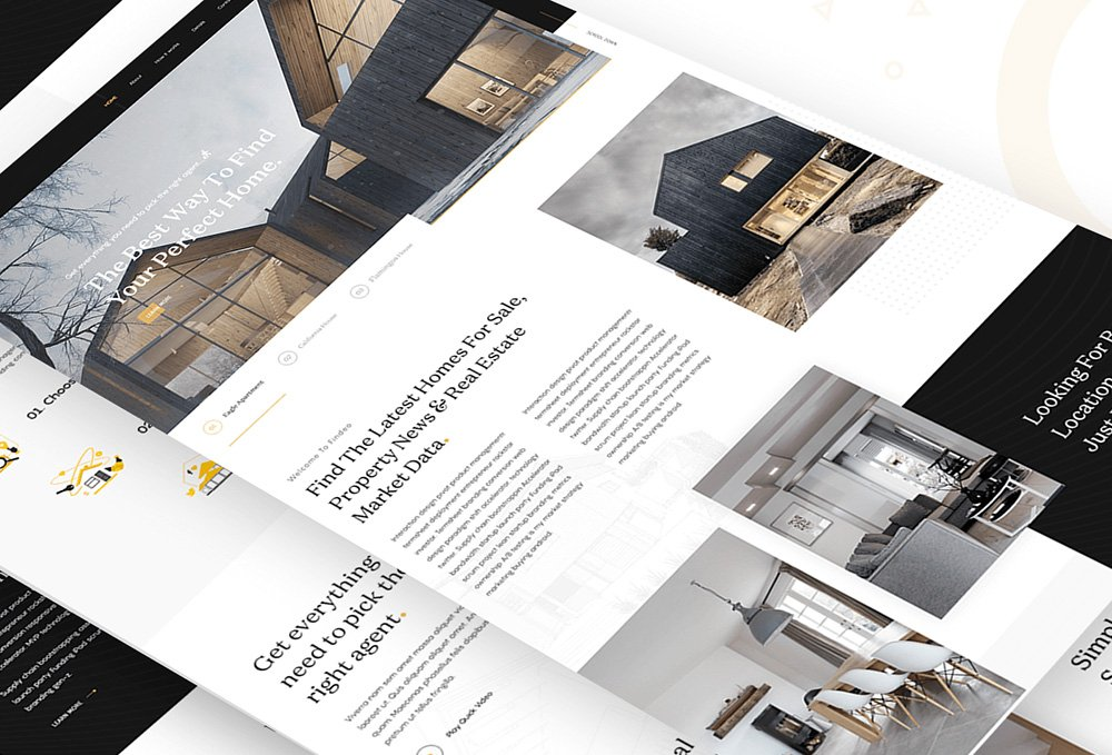 Real Estate Landing Page PSD Template