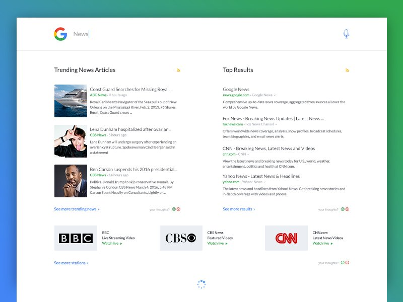 Search Results Free PSD Layout