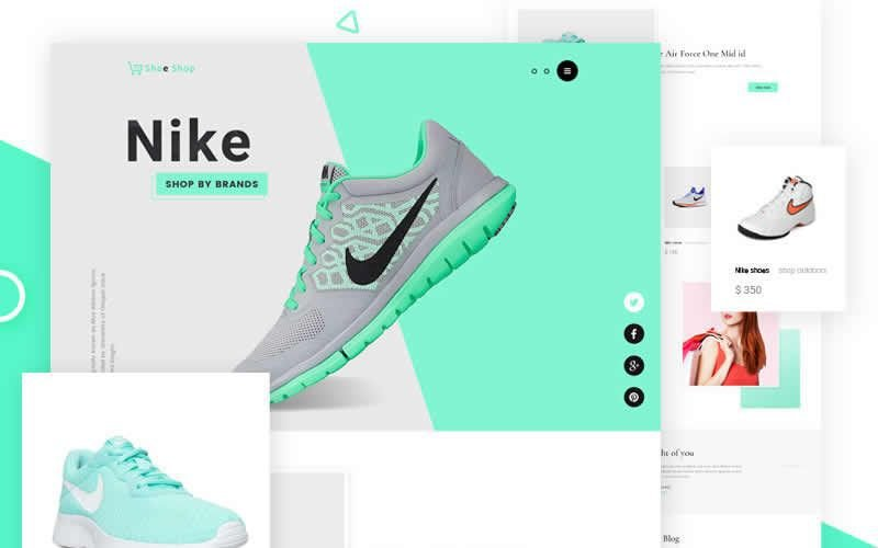 Sneakers Free eCommerce Free Photoshop PSD Website Templates