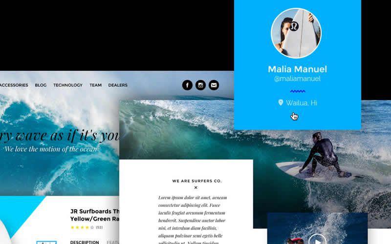 Surfers Co. – Free Surf Shop PSD Template