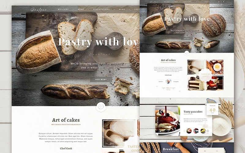 The Bakery Website – Free Bakery eComerce PSD