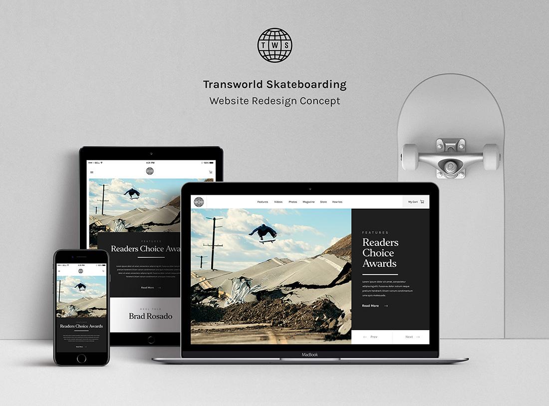 Transworld Skateboarding – Magazine & Blog PSD Template