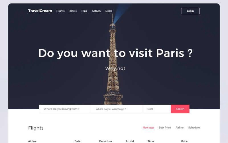 TravelCream – Travel Guide Layout PSD