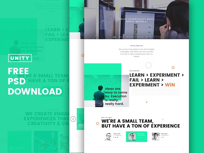 Trio – Free Business Layout PSD Template