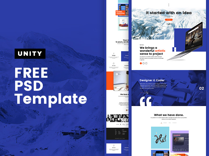 Unity – Clean Business Layout Template