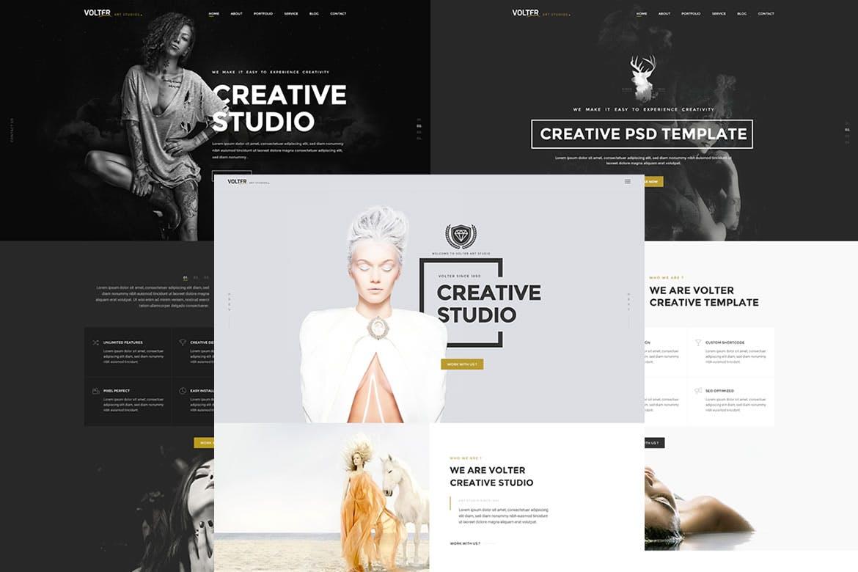 Volter - Creative Free Photoshop PSD Website Templates