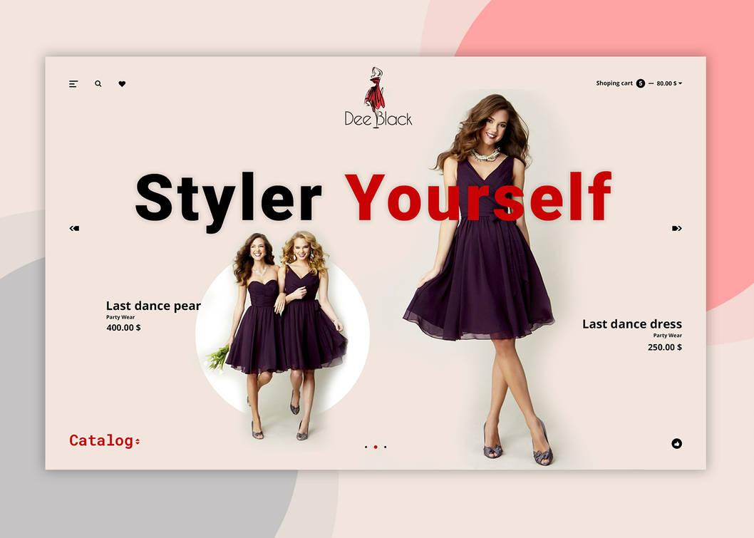 Dee Black – Fashion Landing Page PSD