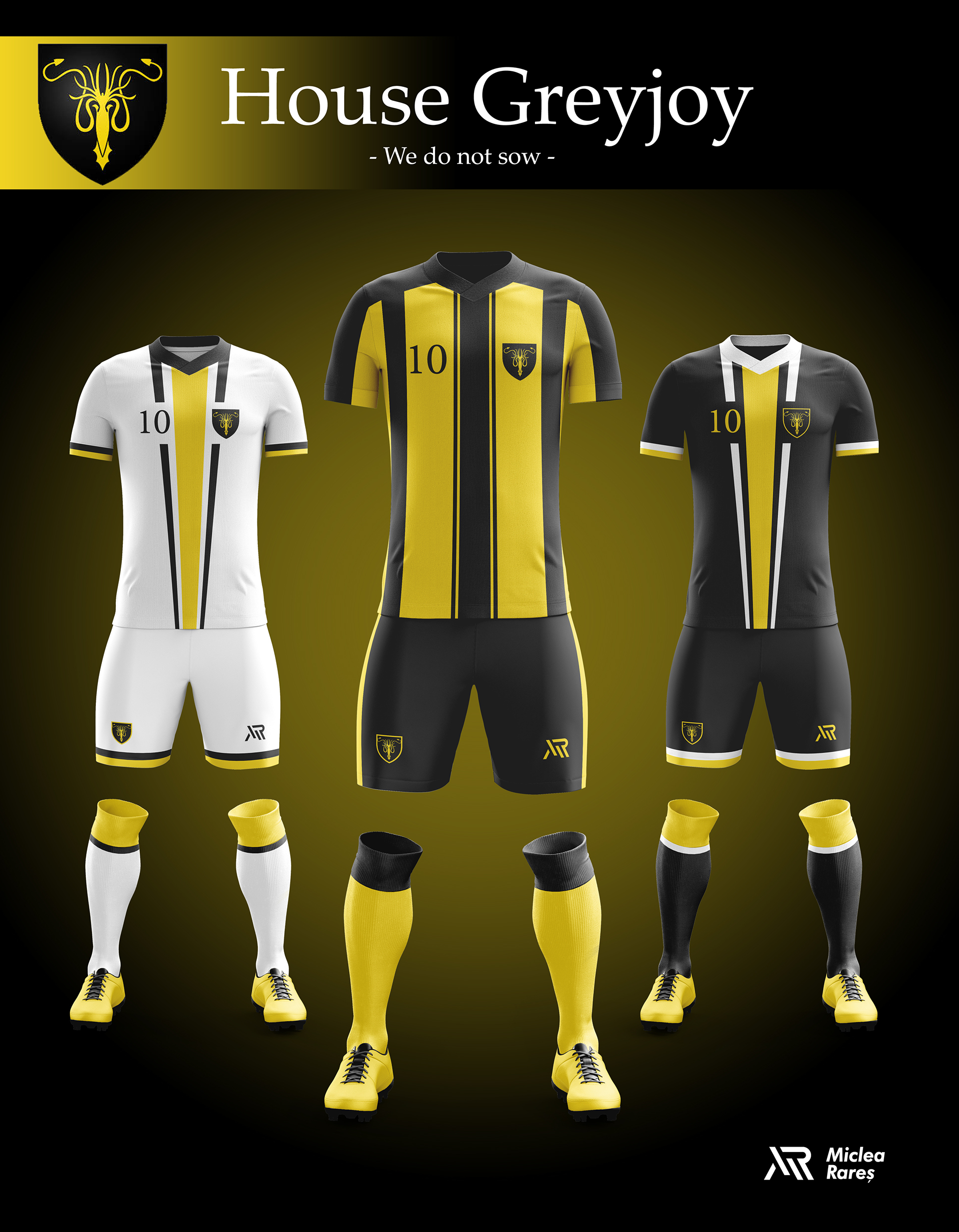 House Greyjoy Football Kit