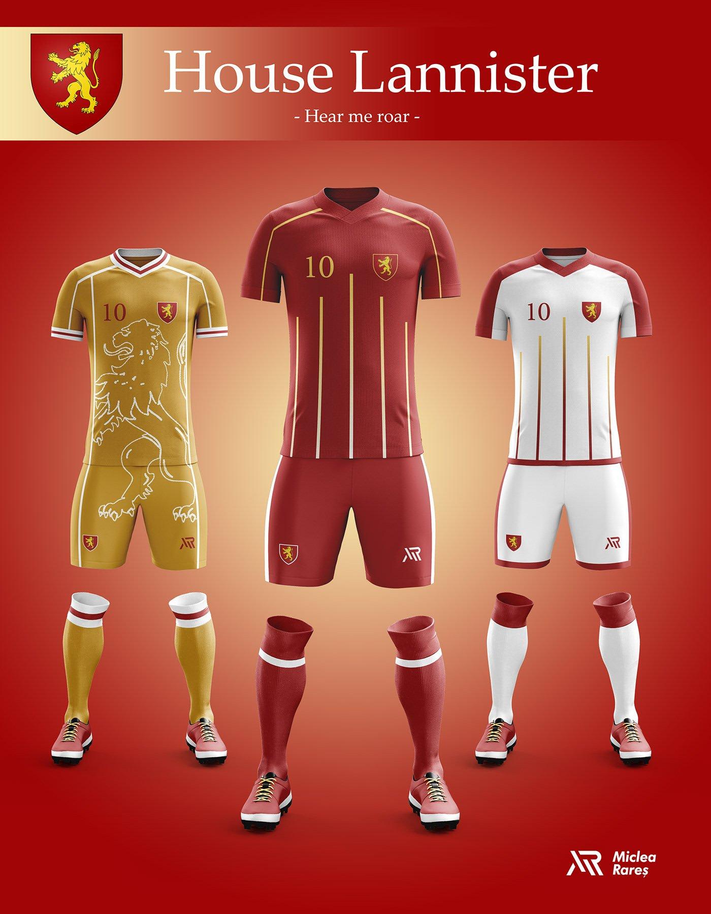 House Lannister Football Kit