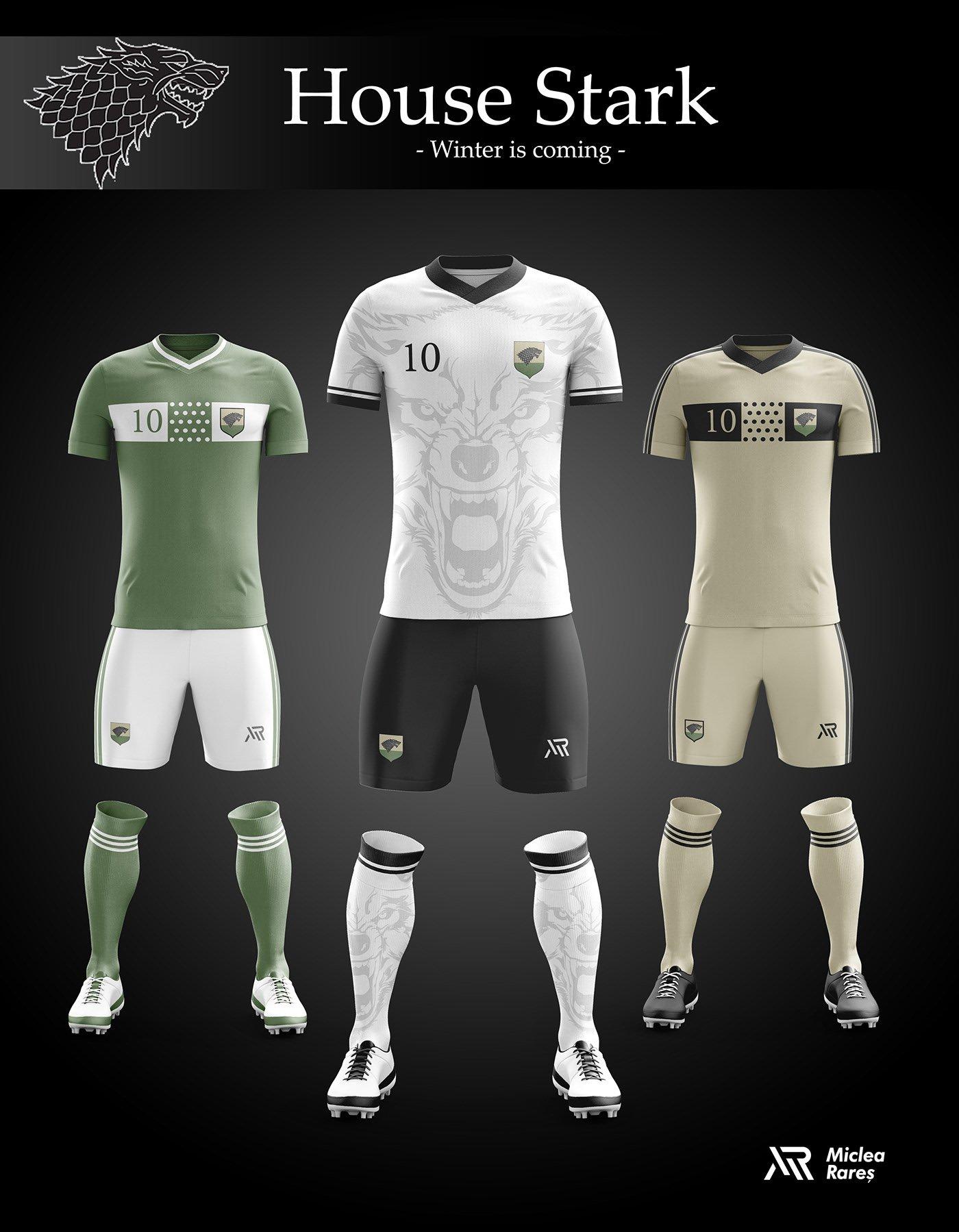 House Stark Football Kit