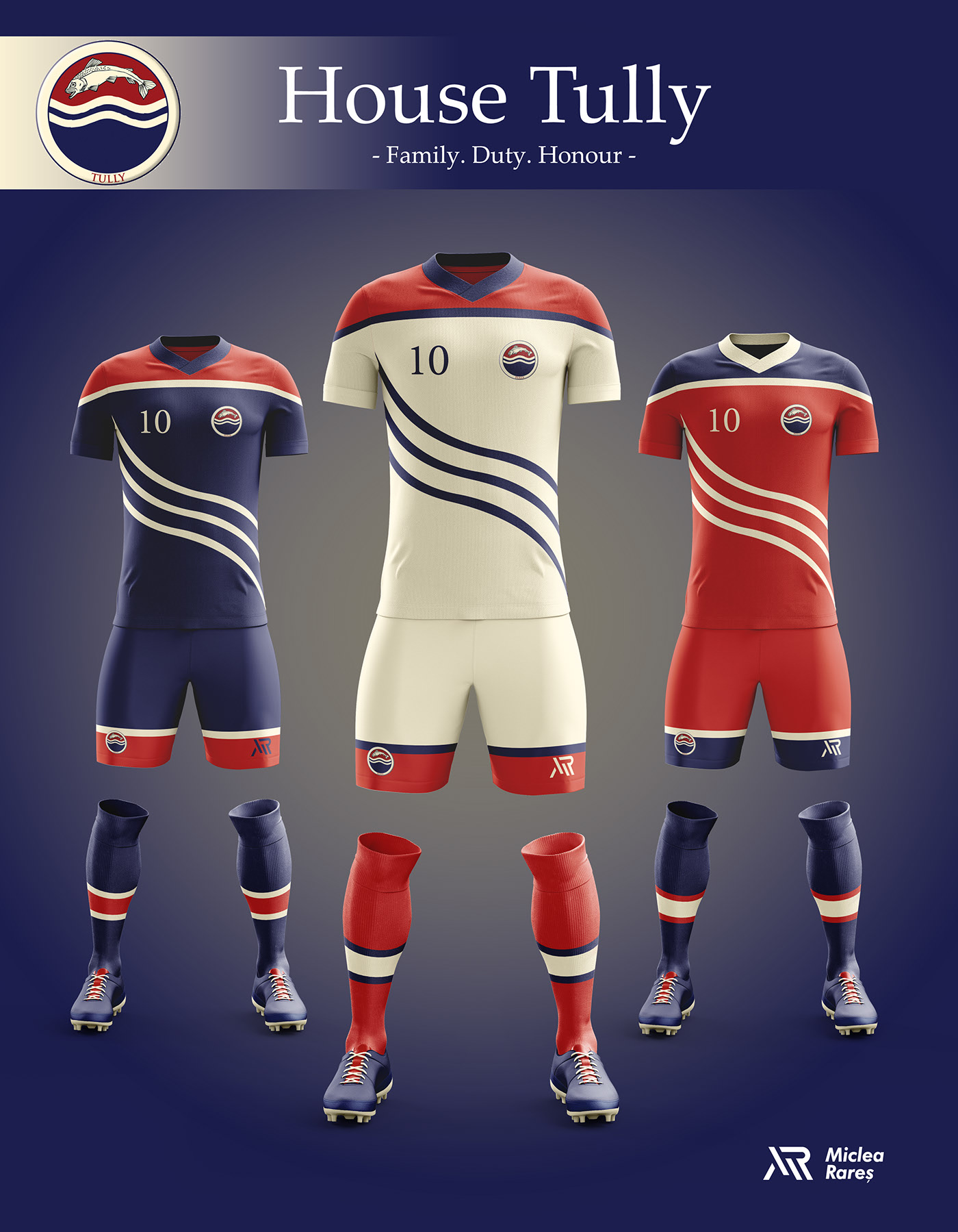 House Tully Football Kit