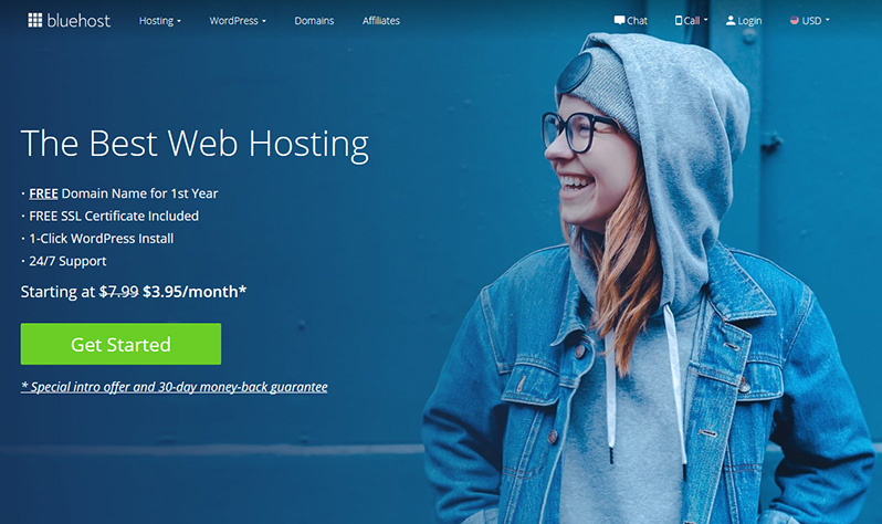 How to start a WordPress blog - Bluehost Hosting