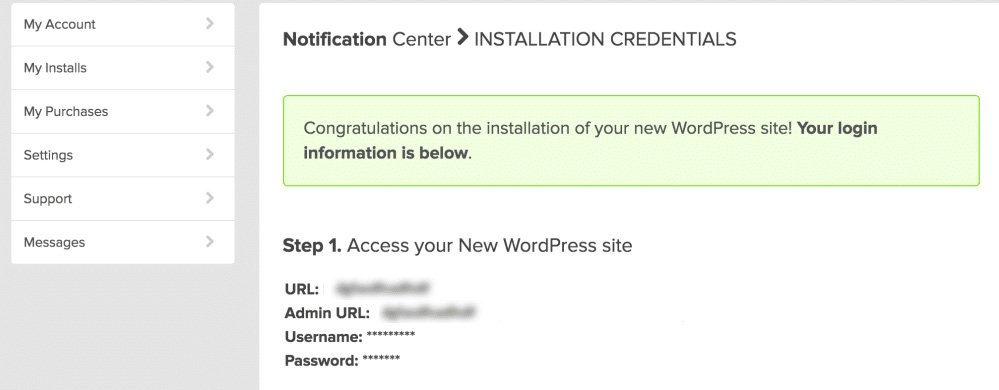 WordPress Login Credential
