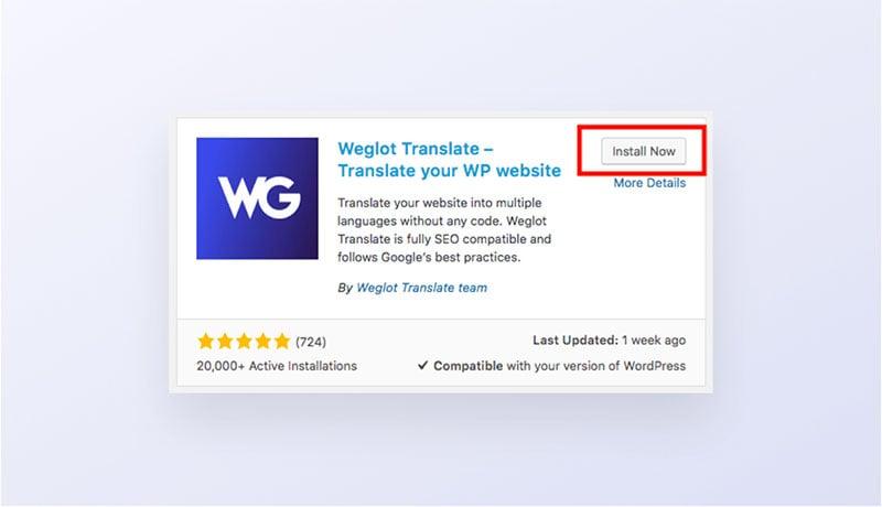 Weglot WordPress Free Plugin
