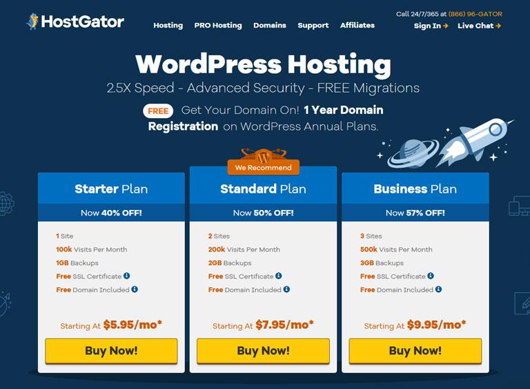 HostGator WordPress Hosting Review