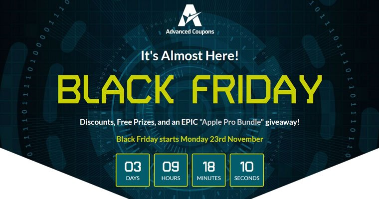 Advanced Coupons Black Friday Deal 2020