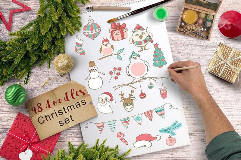 48 Christmas Doodles