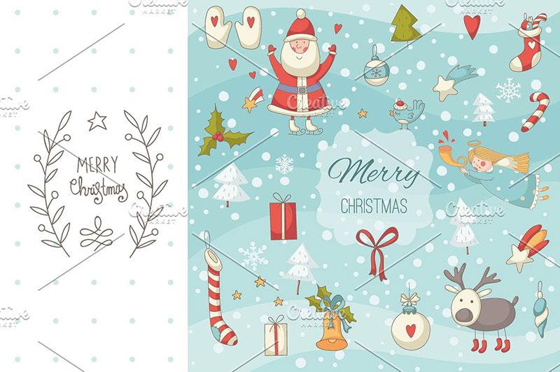 Christmas Design Elements Kit