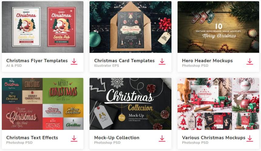 Envato Elements Christmas Resources