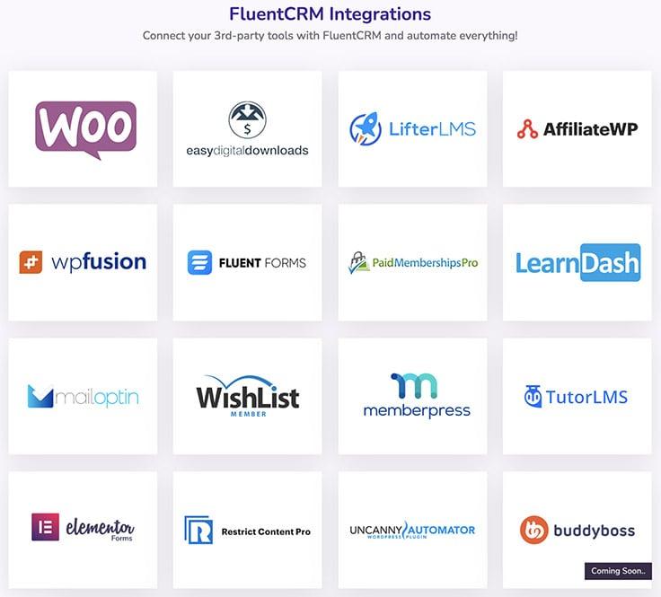 FluentCRM - Integrations